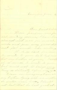 Joseph Culver Letter, June 1, 1864, Page 1