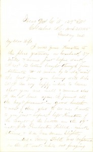Joseph Culver Letter, March 26, 1865, Page 1