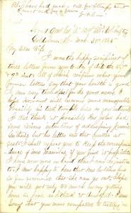 Joseph Culver Letter, March 30, 1865, Page 1