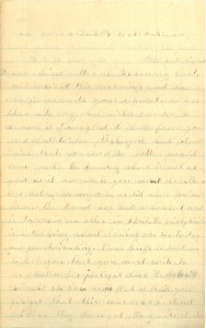 Joseph Culver Letter, March 8, 1865, Page 1