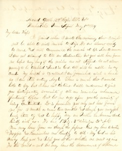 Joseph Culver Letter, May 1, 1864, Page 1