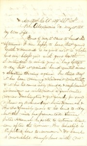Joseph Culver Letter, May 21, 1865, Page 1
