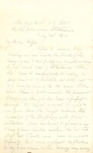 Joseph Culver Letter, May 24, 1864, Page 1