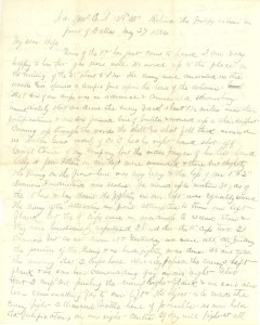 Joseph Culver Letter, May 27, 1864, Page 1