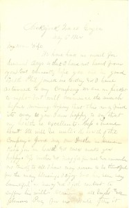 Joseph Culver Letter, May 6, 1864, Page 1
