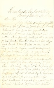Joseph Culver Letter, November 11, 1862, Page 1