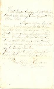 Joseph Culver Letter, November 12, 1862, Page 1
