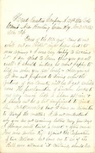 Joseph Culver Letter, November 20, 1862, Page 1