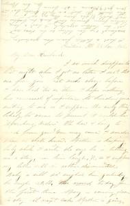 Joseph Culver Letter, November 23, 1862, Page 1
