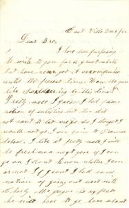 Joseph Culver Letter, December 10, 1862, Page 1