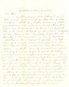 Joseph Culver Letter, December 11, 1862, Page 1