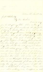 Joseph Culver Letter, December 2, 1862, Page 1