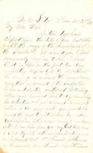 Joseph Culver Letter, December 25, 1862, Page 1