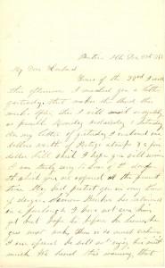 Joseph Culver Letter, December 27, 1862, Page 1