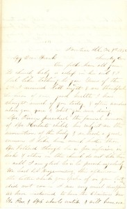 Joseph Culver Letter, December 7, 1862, Page 1