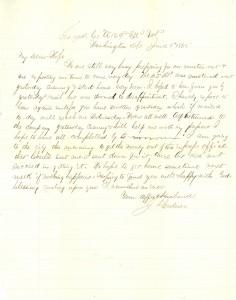 Joseph Culver Letter, June 5, 1865, Page 1