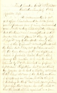 Joseph Culver Letter, July 8, 1863, Page 1
