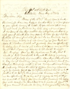 Joseph Culver Letter, August 14, 1863, Letter 2, Page 1