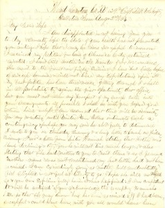 Joseph Culver Letter, August 2, 1863, Page 1