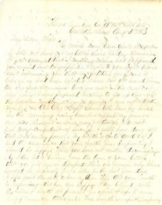 Joseph Culver Letter, August 4, 1863, Page 1