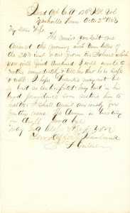 Joseph Culver Letter, October 2, 1863, Page 1