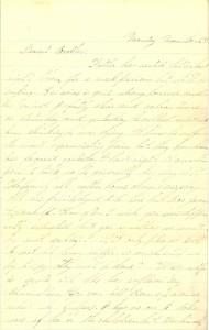 Joseph Culver Letter, November 23, 1863, Page 1