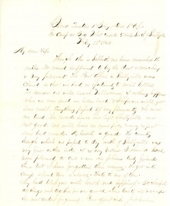 Joseph Culver Letter, February 28, 1864, Page 1