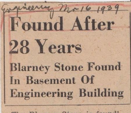 Blarney Stone Found