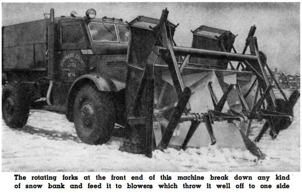 Rotating Forks on Snow Plow