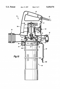U.S. Patent 5,638,574 Convertible leaf blower and vacuum