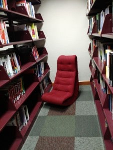 Gamer Chair in the Lower Level Quiet Study Space