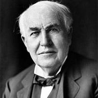 Thomas Edison, Feb. 11, 1847 to Oct. 18, 1931