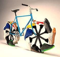 The Walking Bike or Sneaker Bike. Designed by Arkitipintel.