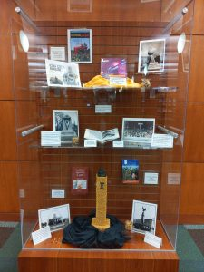 Engineering Library Corn Monument Exhibit