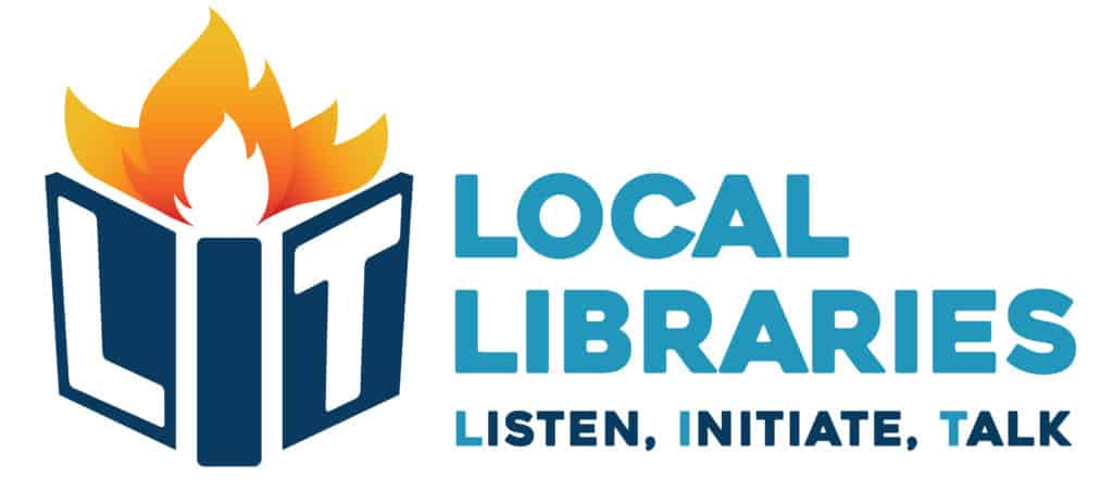 A logo that says Local Libraries Listen, Initiate, Talk.