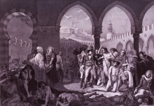 picture of Napolean with plague victims