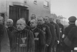 Nazi prisoners in concentration camp at Sachsenhausen, 1938 photo from NARA