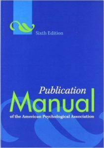 picture of APA publication manual