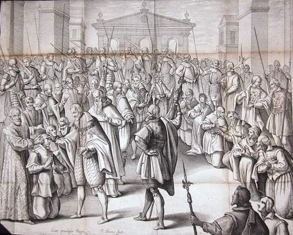 picture of King Henry IV with crowd