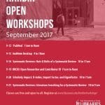 schedule of workshops
