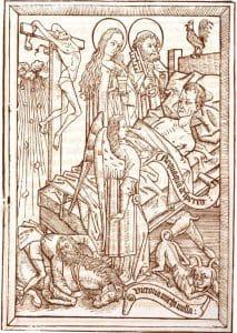 religious woodblock image