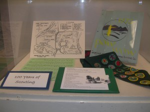 Girl Scout reading room exhibit
