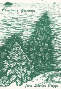 Christmas Tree reflected in the ocean.