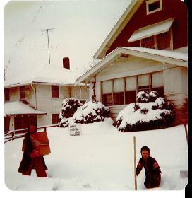 EGC n dodge house in snow