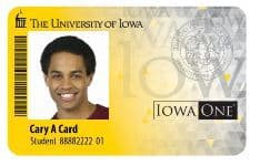 picture of iowa one card ID with photo of man and name Cardy Card