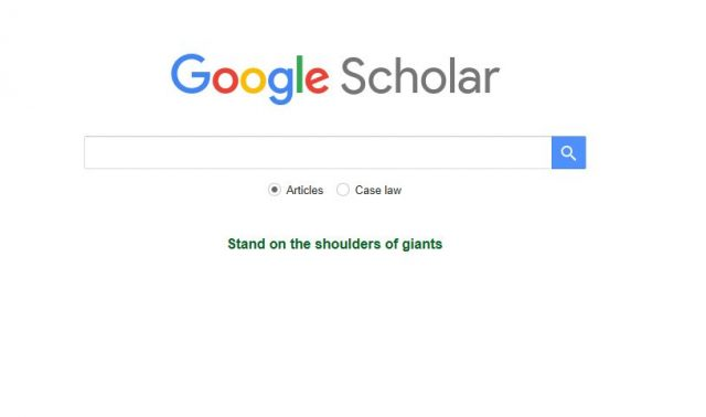 image of google scholar search screen