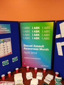 sexaul assault awareness display