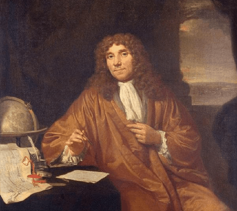 painting of Anthony van ANTHONY VAN LEEUWENHOEK (1632-1723)