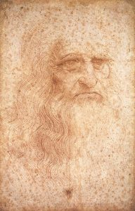 drawing of Da Vinci