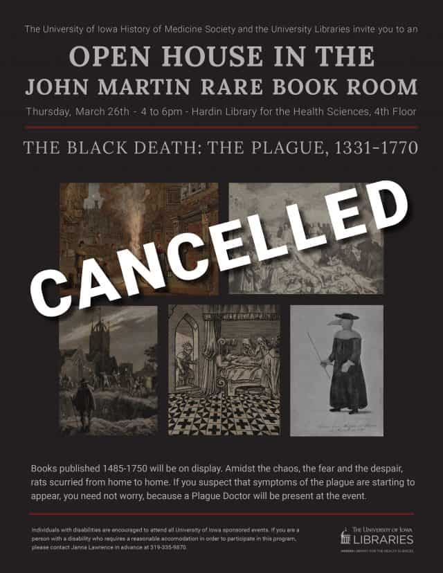 event flyer with cancelled across it
